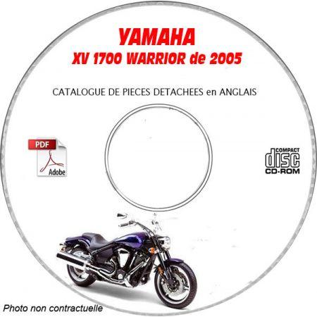 XV 1700 WARRIOR 2005 Catalogue Pièces CDROM YAMAHA Anglais