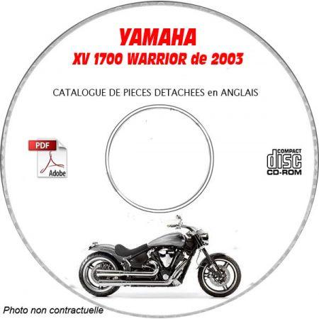 XV 1700 WARRIOR 2003 Catalogue Pièces CDROM YAMAHA Anglais
