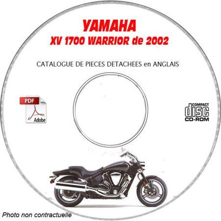 XV 1700 WARRIOR 2002 Catalogue Pièces CDROM YAMAHA Anglais