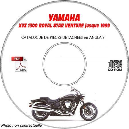 XVZ 1300 ROYAL STAR VENTURE -99 Catalogue Pièces CDROM YAMAHA Anglais