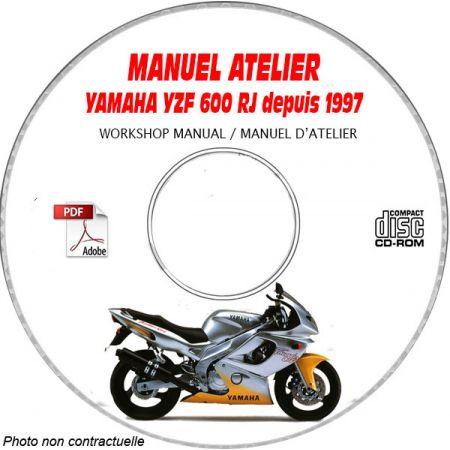 YZF 600 RJ 1997 Manuel Atelier CDROM YAMAHA Anglais