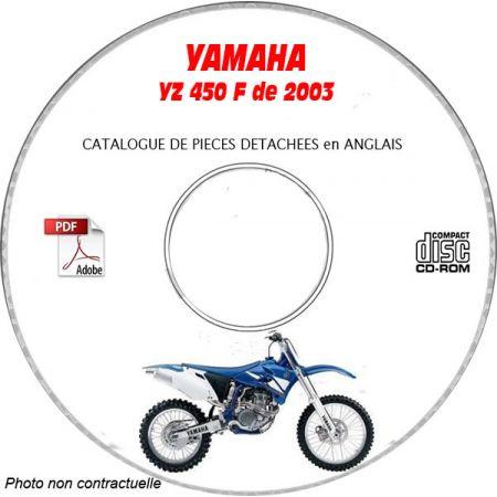 YZ 450F 2003 Catalogue Pièces CDROM YAMAHA