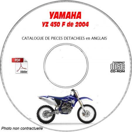 YZ 450F 2004 Catalogue Pièces CDROM YAMAHA Anglais