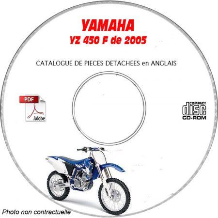 YZ 450F 2005 Catalogue Pièces CDROM YAMAHA Anglais
