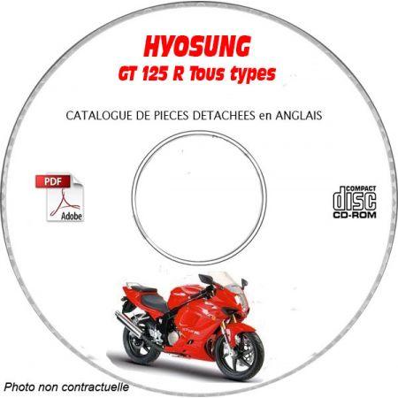 COMET GT 125 R Catalogue Pièces CDROM HYOSUNG Anglais