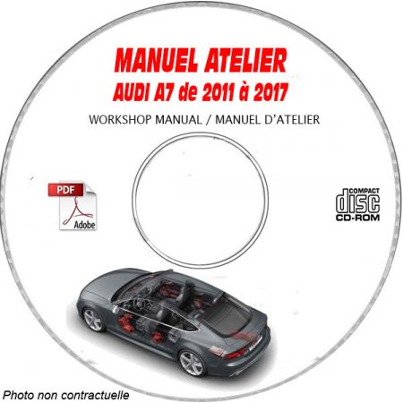A7 11-17 - Manuel Atelier CDROM AUDI Anglais