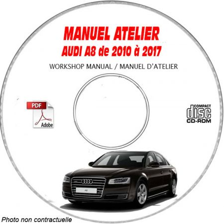 A8 10-17 - Manuel Atelier CDROM AUDI Anglais
