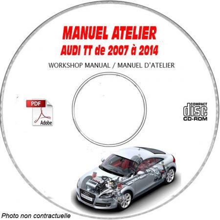 TT S RS 07-14 Manuel Atelier CDROM AUDI Anglais