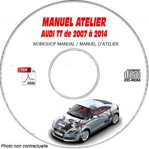 Inclus CD-RO Support TT 00-06 Manuel Atelier CDROM AUDI Anglais Expédition