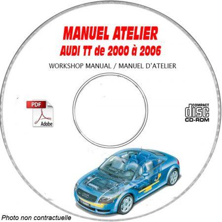 TT 00-06 Manuel Atelier CDROM AUDI Anglais