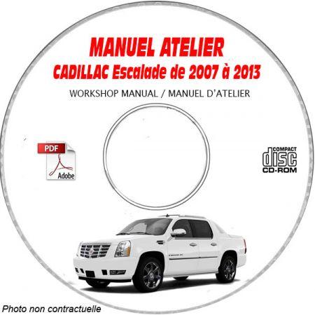ESCALADE 07-13 Manuel Atelier CDROM CADILLAC Anglais