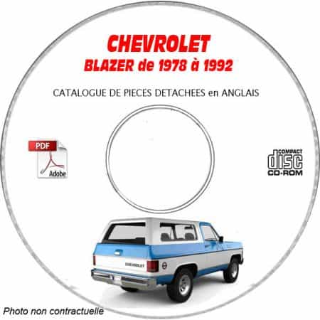 BLAZER 78-92 - Catalogue Pieces CDROM CHEVROLETAnglais
