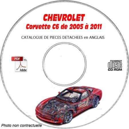 CORVETTE C6 05-11 Catalogue Pièces CDROM CHEVROLET Anglais