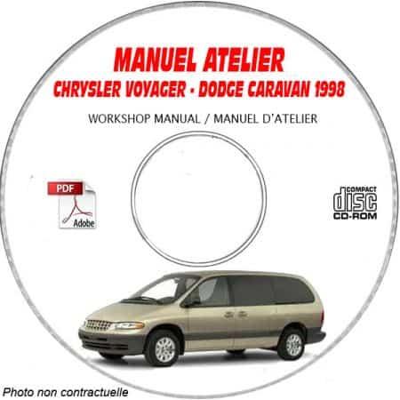 CHRYSLER VOYAGER - DODGE CARAVAN ed. 1998 Type NS + GS Manuel d'Atelier sur CD-ROM Anglais