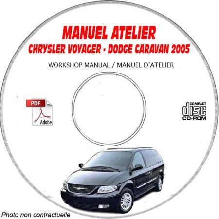 CHRYSLER VOYAGER - GRAND VOYAGER DODGE CARAVAN - GRAND CARAVAN Type : RG Ed 2005 Manuel d'Atelier sur CD-ROM Anglais