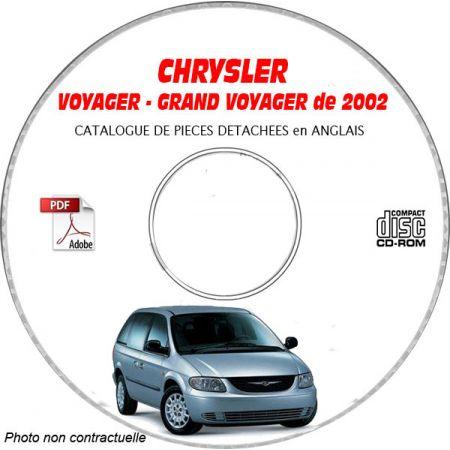VOYAGER 2002 Catalogue Pièces CDROM CHRYSLER Anglais