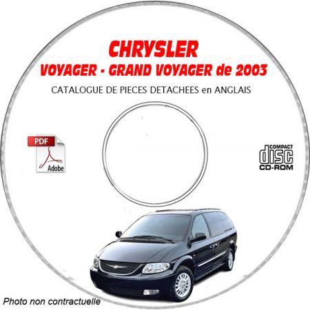 CHRYSLER VOYAGER / GRAND VOYAGER de 2003 Type : RG Catalogue des Pièces Détachées sur CD-ROM anglais