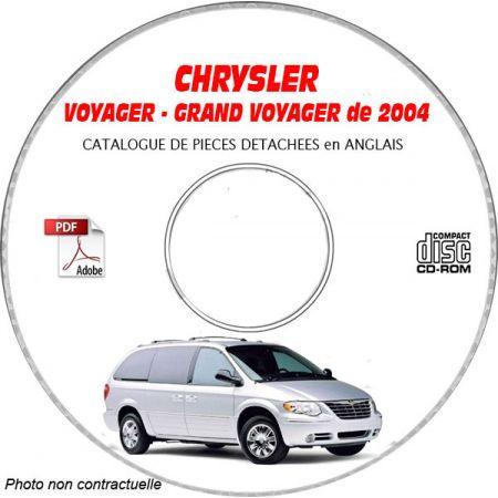 CHRYSLER VOYAGER / GRAND VOYAGER de 2004 Type : RG Catalogue des Pièces Détachées sur CD-ROM anglais