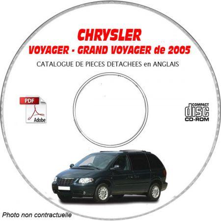CHRYSLER VOYAGER - GRAND VOYAGER de 2005 Type : RG Catalogue des Pièces Détachées sur CD-ROM anglais