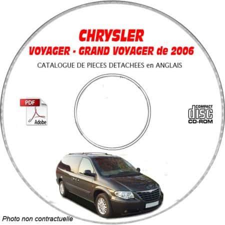 VOYAGER 2007 Catalogue Pièces CDROM CHRYSLER Anglais