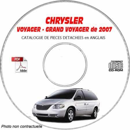VOYAGER 2007 Manuel Atelier CDROM CHRYSLER Anglais