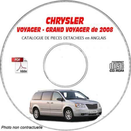 VOYAGER 2008 Manuel Atelier CDROM CHRYSLER Anglais