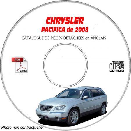 CHRYSLER PACIFICA 2008 Type : CS LIMITED + TOURING + SIGNATURE Catalogue des Pièces Détachées sur CD-ROM anglais