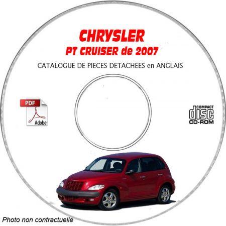 CHRYSLER PT CRUISER 2007 - Classic Limited Touring GT Type : PT Catalogue des Pièces Détachées sur CD-ROM