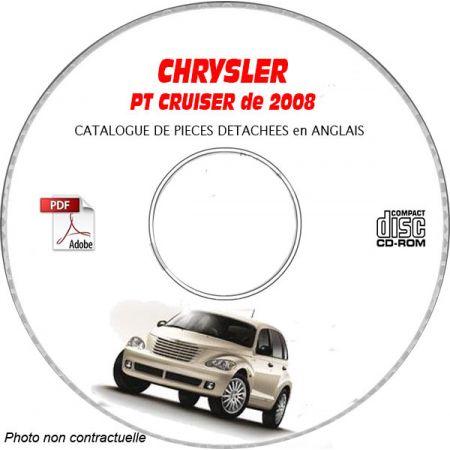 CHRYSLER PT CRUISER 2008 Type : PT CLASSIC + LIMITED + TOURING + GT + STREET Catalogue des Pièces Détachées sur CD-ROM anglais
