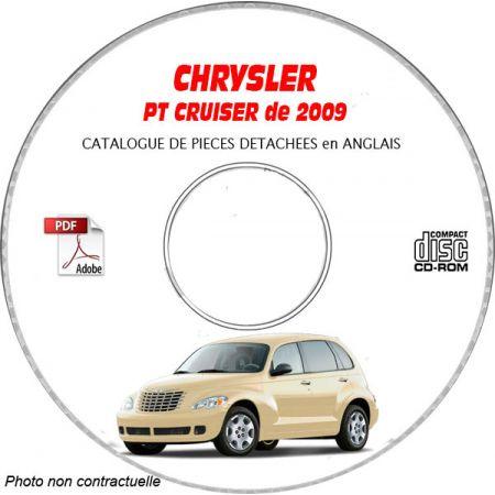 CHRYSLER PT CRUISER 2009 Type : PT CLASSIC + LIMITED + TOURING + STREET Catalogue des Pièces Détachées sur CD-ROM anglais