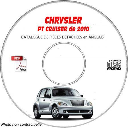 CHRYSLER PT CRUISER 2010 Type : PT Catalogue des Pièces Détachées sur CD-ROM anglais