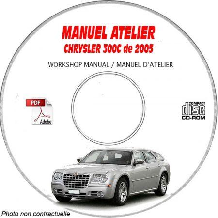CHRYSLER 300C et SRT8 de 2005 Type : LX Manuel d'Atelier sur CD-ROM anglais