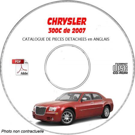 CHRYSLER 300C Touring, Limited, SRT8 de 2007 Type : LX Catalogue des Pièces Détachées sur CD-ROM anglais