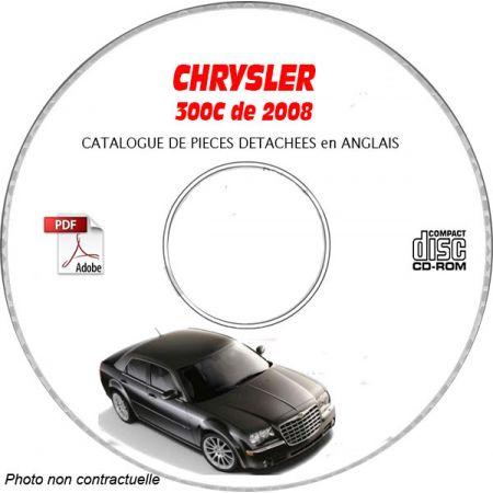 CHRYSLER 300C et SRT8 de 2008 Type : LX Catalogue des Pièces Détachées sur CD-ROM anglais
