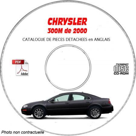 CHRYSLER 300M de 2000 CONCORDE / LHS Type : LH Catalogue des Pièces Détachées sur CD-ROM Anglais