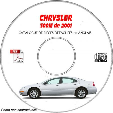 CHRYSLER 300M de 2001 CONCORDE / LHS Type : LH Catalogue des Pièces Détachées sur CD-ROM anglais