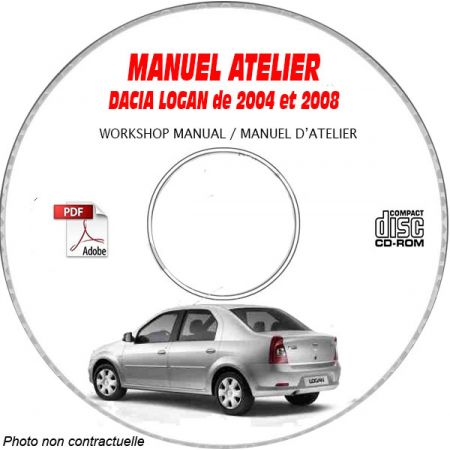 DACIA LOGAN L90 2004 à 2008 Type : X90 LS0C Manuel d'Atelier sur CD-ROM