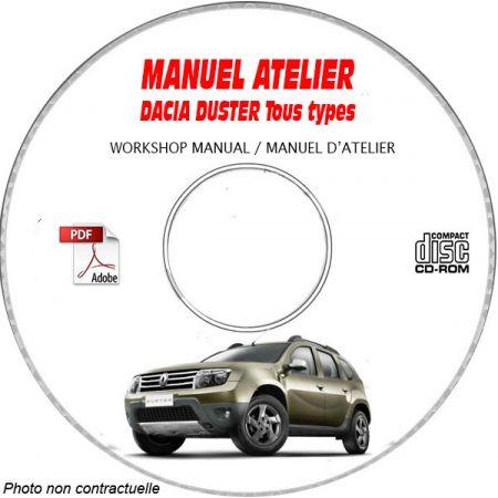 DACIA DUSTER Tous types Type : X79 Manuel d'Atelier sur CD-ROM