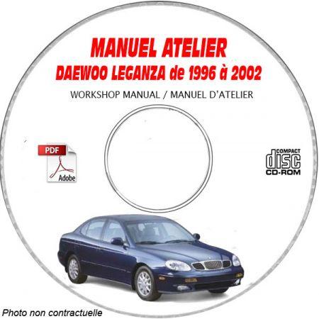 DAEWOO LEGANZA de 1996 a 2002 Manuel d'Atelier sur CD-ROM Anglais
