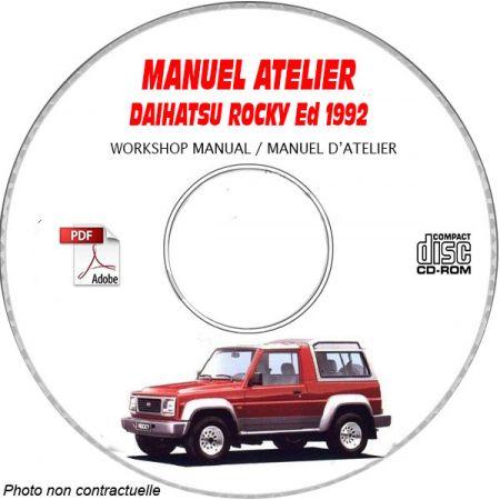 ROCKY -92 Manuel Atelier CDROM DAIHATSU Anglais Revue technique