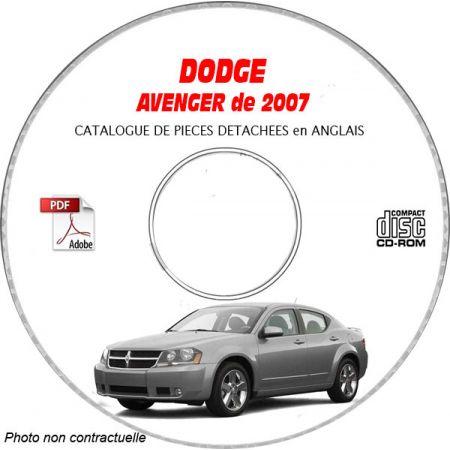 DODGE AVENGER 07 Manuel Atelier CDROM Anglais