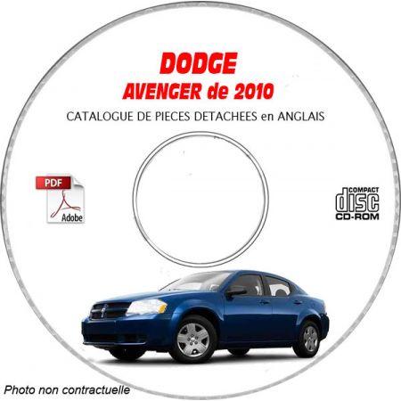 DODGE AVENGER 10 Manuel Atelier CDROM Anglais