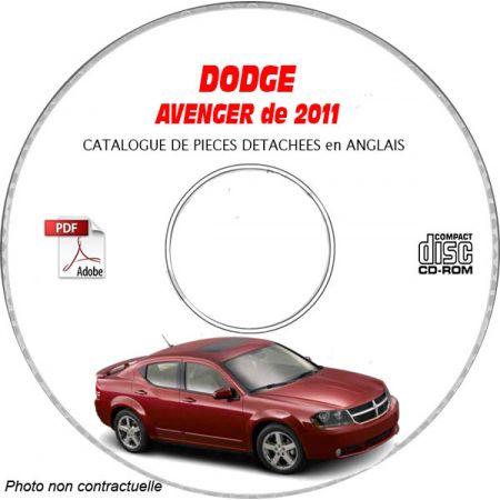 DODGE AVENGER 11 Manuel Atelier CDROM Anglais