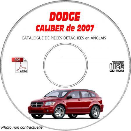 DODGE CALIBER 07 Manuel Atelier CDROM Anglais