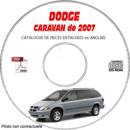 DODGE CARAVAN de 2007 Type : RS Catalogue des Pièces Détachées sur CD-ROM anglais
