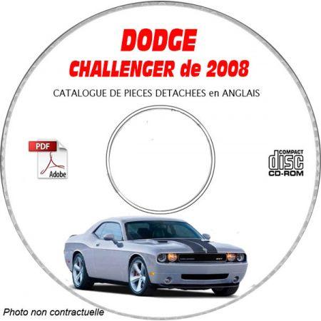 DODGE CHALLENGER de 2008 Type : LC et SRT-8 Catalogue des Pièces Détachées sur CD-ROM Anglais