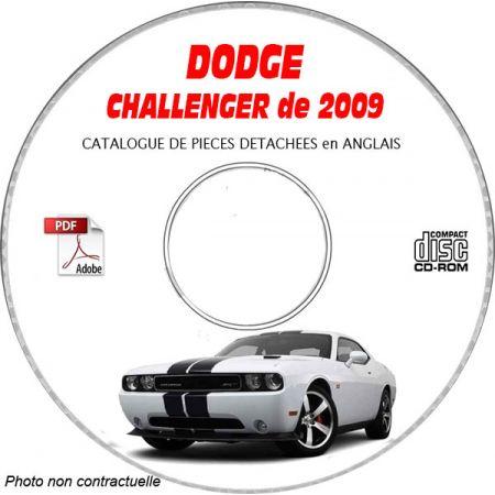 DODGE CHALLENGER de 2009 Type : LC et SRT-8 Catalogue des Pièces Détachées sur CD-ROM Anglais
