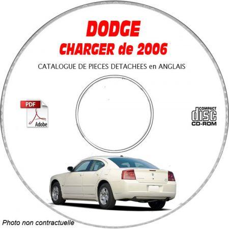 DODGE CHARGER de 2006 Type LX, D, R/T, SRT8 Catalogue des Pièces Détachées sur CD-ROM Anglais