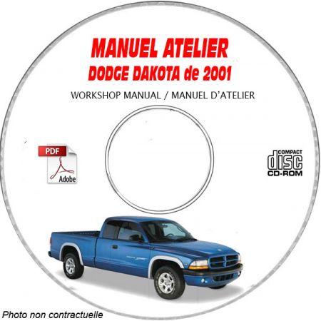 DODGE DAKOTA de 2001 Type : AN Sport SLT Manuel d'Atelier sur CD-ROM Anglais