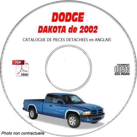DAKOTA 2002 Catalogue Pièces CDROM DODGE Anglais